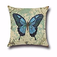 Vintage Butterfly Cotton Linen Pillow Case Sofa Throw Cushion Cover Home Decor H03