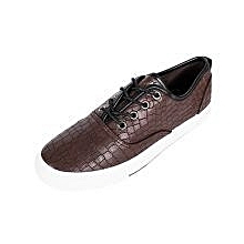 Brown Reptile Print Rubber Sneakers