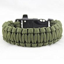 Rescue Rope Popular Flint Fire Escape Bracelet Survival Gear Outdoor 4 In 1 B