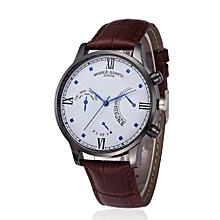 Hiamok_Retro Design Leather Band Analog Alloy Quartz Wrist Watch