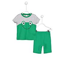 Green and Grey Fashionable Pyjamas Set