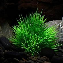 Aquarium Ornament Aquatic Simulation Plant Fish Tank Decoration Artificial Water Grass, Size: 10.0x10.0cm(green)