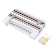 Multifunctional Kitchen Bathroom Cling Film Tissue Storage Rack Paper Holder khaki