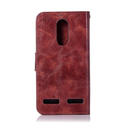 buy popular 9825f 07928 Casing For Lenovo K6/K6 Power,Reto Leather Wallet Case Magnetic Double Card  Holder Flip Cover