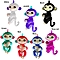 Cute Finger Toy Baby Monkey Toy Kids Gift with Flexible Head Arms Legs-Green