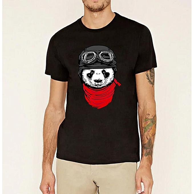 2486c9624 Cute Air Force Panda T-Shirt Men Fashion Color O-neck Harajuku T Shirt