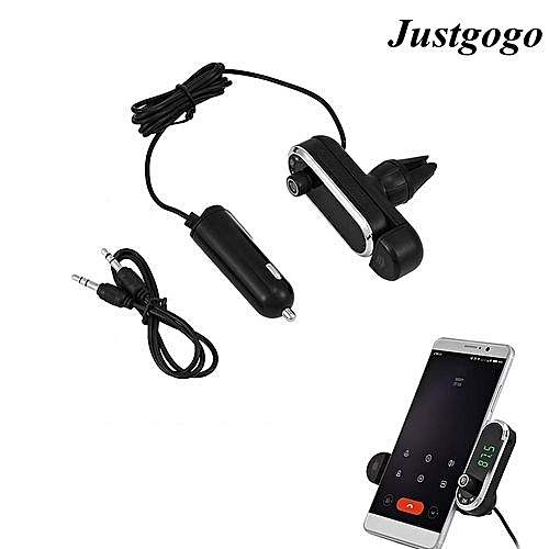 Clearance Sale Bluetooth Car Kit Wireless Fm Transmitter Radio Adapter With  Phone Holder Handsfree Music Mp3 Usb Player For Phone