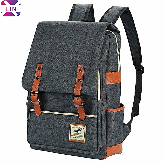 Generic Canvas Lightweight Laptop Backpack 75f4c010f