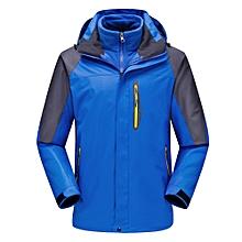 Mens Thick Fleece Winter Outdoor Water Repellent Jacket Casual Stand Collar Coat