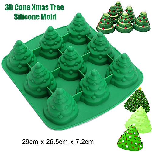 3D Christmas Xmas Tree Cake Mould Cookie Chocolate Baking Mold Sugarcaft DIY - Buy Generic 3D Christmas Xmas Tree Cake Mould Cookie Chocolate