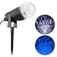 Kaleidoscope Projector Rotating LED Light 2 Colors Switchable Blue & White Spotlight EU Plug - Blue