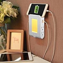 New Multi-functional LED Sensor Night Light Wall Charger 5V/3.1A Double USB Port + 4 US Plug Socket