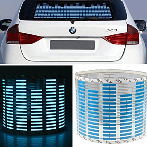 Energy Saving Rear Window Car Equalizer Light Sound Music Atmosphere Rhythm  Accessories Decorative Beat Audio Activated Plug
