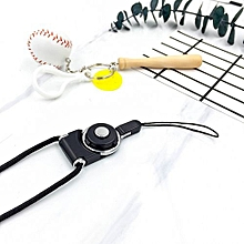 Wholesale Detachable Neck Strap Lanyard For Cell Phone Mp3 Mp4 ID Card BK