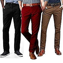3 Pack Khaki Trousers