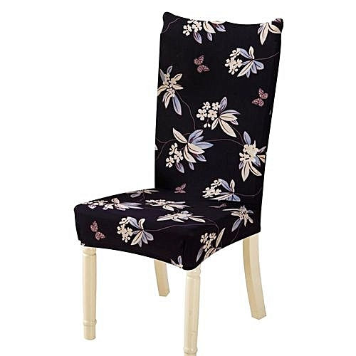 Removable Conjoined Stretchy Floral Home Stool Chair Seat Cover (2#)