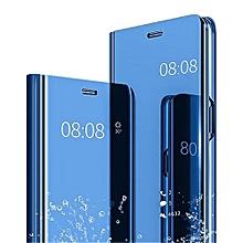 Samsung Galaxy A10 Plating Mirror Leather Case - Blue