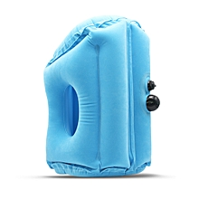 Travel Pillow Inflatable Pillows Air Soft Cushion Trip Portable Innovative Products Blue M Push Type