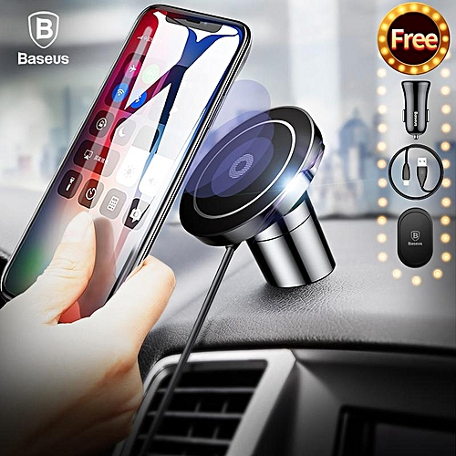 size 40 5f084 701e3 Baseus Big Ear Qi Wireless Charger Magnetic Car Mount Fast Qi Wireless  Charger For iPhone X 8 Plus Samsung S8 S6 Wireless Charging Charger Pad ...