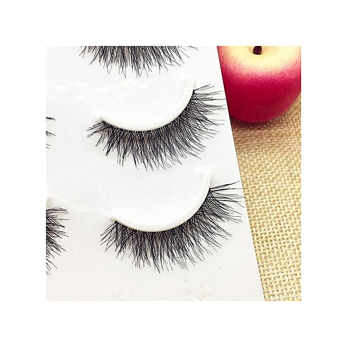 Buy Generic 3 Pairs Long False Eyelashes Makeup Natural Fake Thick