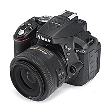 Nikon D5300 Camera Body,Nikon AF-P 18-55mm Lens -Black