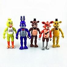 5pcs/set PVC Five Nights At Freddy's Action Figures Toys Desktop Ornament - Multicolor