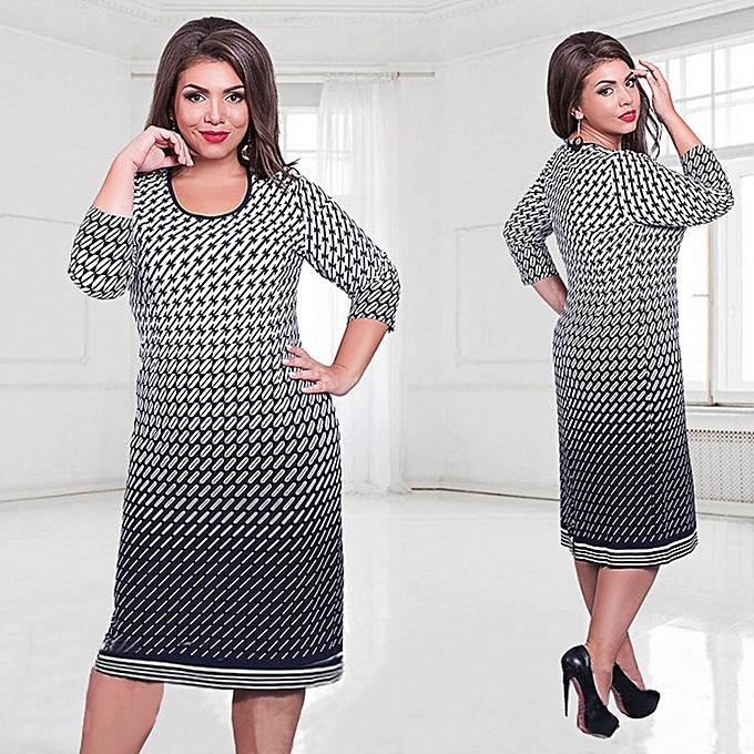 Buy Generic New Elevated Size Dress Middle Sleeve Ladies Elegant Mid