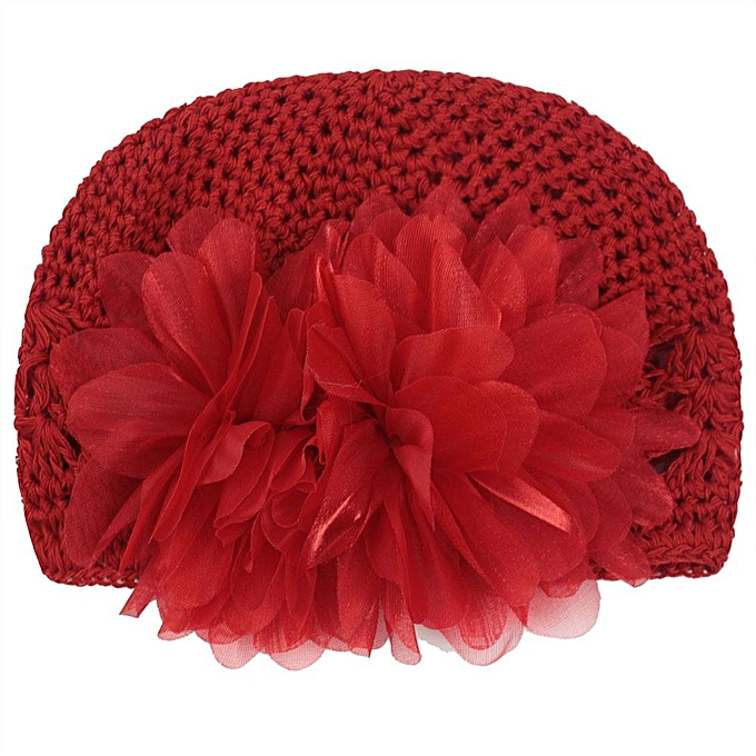 Buy Louis Will Infant Toddler Girl Cute Crochet Flower Baby Knit Hat