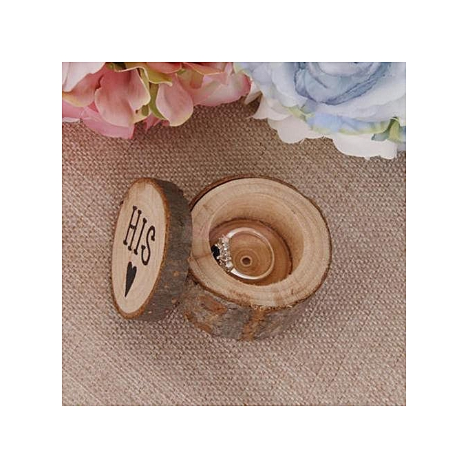 38070f4e2 2019 1Set Personalized Retro Ring Box Wedding Valentines Wooden Holder Jewelry  Box