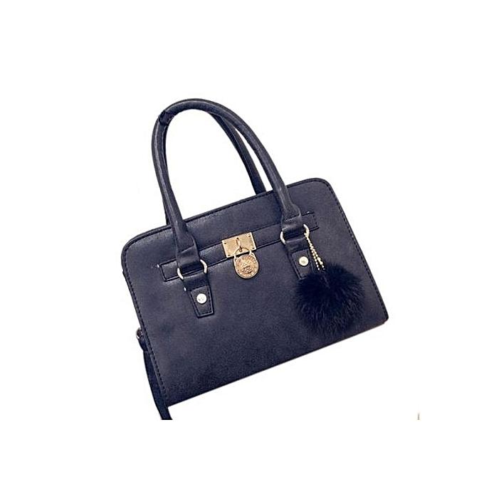 Fohting Women Fashion  Handbag Shoulder Bag Large Tote Ladies Purse BK -Black