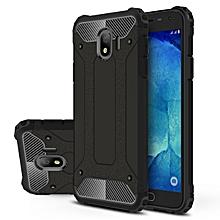 Galaxy J4 2018(EUR) Case, Hybrid [Full Body] [Heavy Duty] Armor Case Dual Layer Shock Absorbing TPU Protective Case Cover for Samsung Galaxy J4 2018(EUR) Black