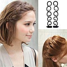 Hair Twist Braider with Hook Hair Edge Twist Curler Styling Tool DIY Accessories