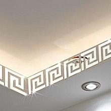 10PC/Set Crystal Three-dimensional Mirror Wall Sticker Silver