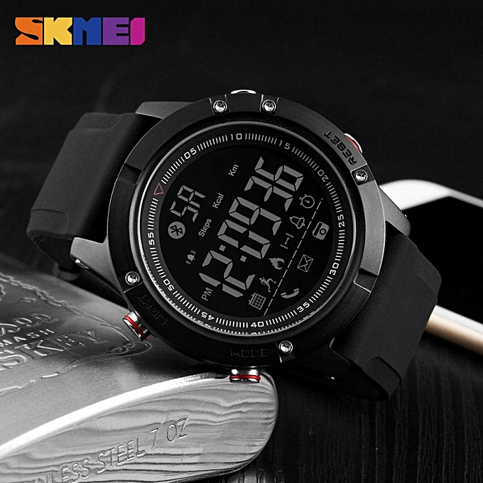 ... SKMEI Men Smart Watch Bluetooth Sports Waterproof Digital Watch  Calories Pedometer Multifunction Reminder Jam tangan lelaki ... cb0aaf9b0a