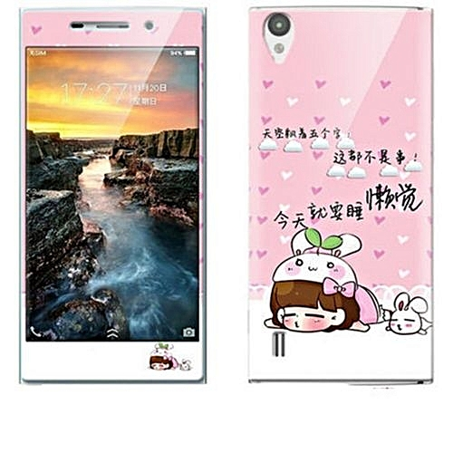Luxury 3D Painting Front+Back Full Case Cover Color Tempered Glass Case For Vivo Y13L