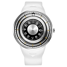 Men Watch Creative Rotation Dial Magnetic Ball Wrist Watch Silicone Strap Waterproof Sport Watch for Men