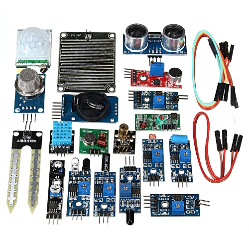 16Pcs/Set Module For Raspberry Pi 3 2 Zero W Sensor Kit Ultrasonic  Photoresisto