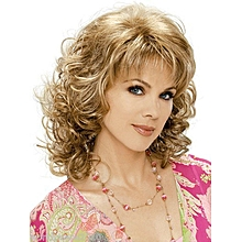 Blonde Curly Wavy Long Wigs For Women Gifts Wig Cap Free