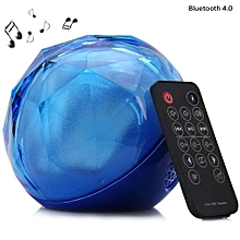 Color Ball Shape LED Shinning Wireless Bluetooth 4.0 Stage Speaker Support USB TF Card Slot - Blue