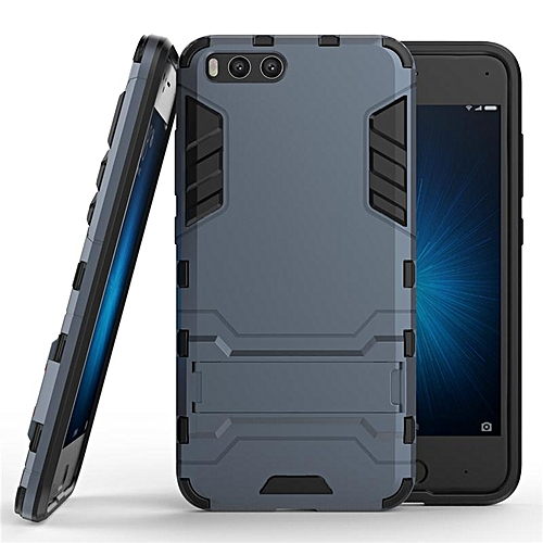 new concept 8d9f4 dcd6f For Xiaomi Mi 6 Plus Amor Rugged Phone Case Built-in Stand Protective Back  Cover Fingerprint-proof Phone Shell For XIAOMI MI6+