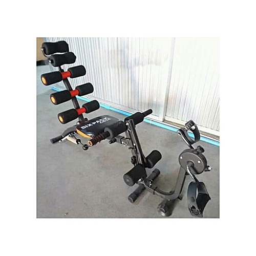 db2093fe97c Generic Six Pack Care Bench Exercise Machine with Pedals - Black. By Generic