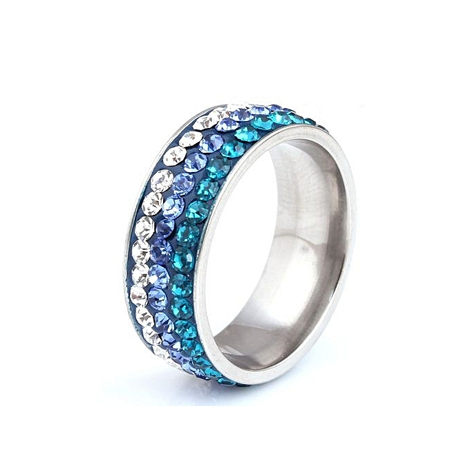 Buy Fashion Female Jewelry Birthday Gift Stainless Steel Three Rows