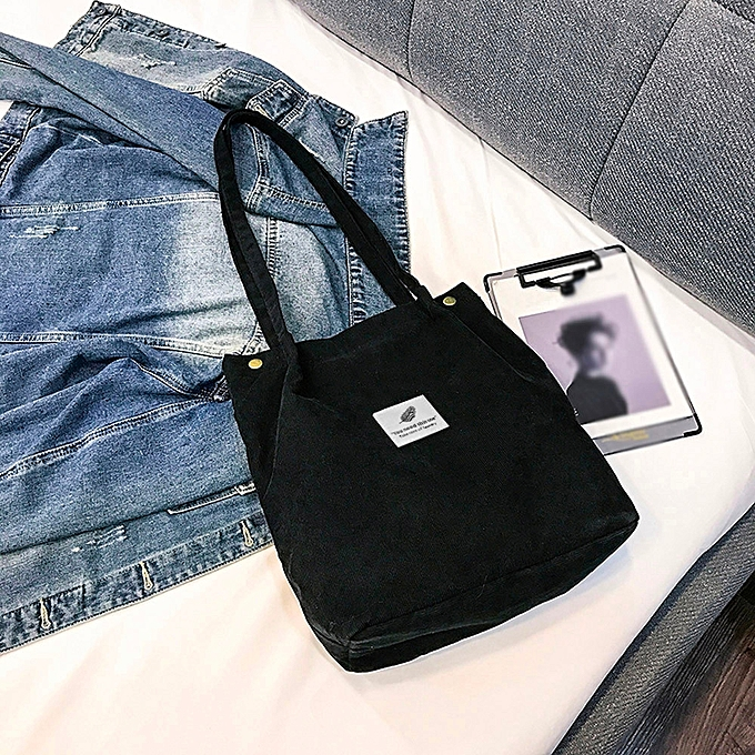 b4c943804abd huskspo Fashion Women Corduroy Pure Color Shoulder Bag Satchel Tote Hand  Bag Travel Bag