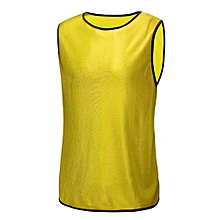 Football Training Bibs Team Vests Soccer Basketball Sports Jerseys Adult Clothes Yellow