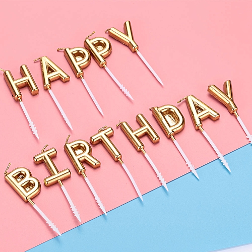 Generic HAPPY BIRTHDAY Candle Birthday Candles Baking Gift Party Supplies Decoration