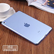 High Quality Transparent Clear Soft Slim TPU Gel Protective Case Cover for Apple iPad Air 2(Blue) HSL-G