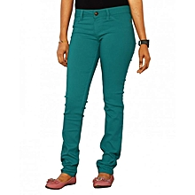 Stretchy Skinny Jeans in Green