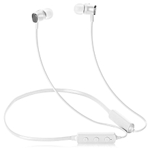 EP52 Lite Bluetooth Magnetic Headphone Neckband Sweatproof Sports Earbuds-WHITE