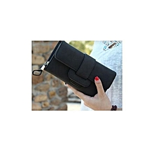 Fashion Leather Purse Wallet for Ladies -Black