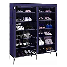 36 Pairs Portable Shoe Rack - Navy Blue